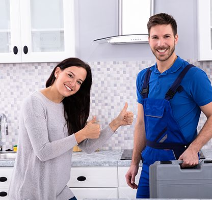 Satisfied customer with the plumber - Tom's Plumbing and Drain Service, LLC